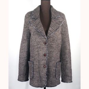 FALCONERI Knit Wool Women's Sweater Coat Size XL
